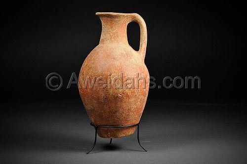 Rare Ancient Early Bronze Age Abydos wine jug, 3000 BC