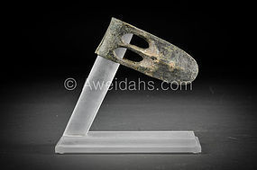 Canaanite bronze duck bill axe-head, Middle Bronze Age, 1750 B.C.