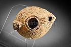 Roman samaritan terracotta oil lamp, 300 - 450 AD