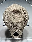 Rare Roman Oil Lamp With Unpierced Discus, 200 - 300 AD
