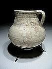 Greek-hellenistic Terracotta Wine Pitcher, 330 BC