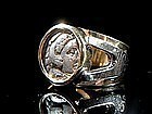 Gold Ring - Silver Drachm of King Alexander theGreat