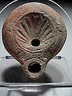 From Jerusalem, Roman terracotta disk oil lamp. 100 AD