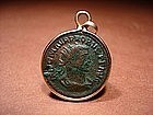 Ancient Roman Bronze Coin  Pendant Of Antoninianus