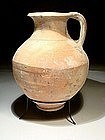 Large Greek-hellenistic Wine Terracotta Pitcher, 330 BC