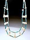 Egyptian Hyksos Faience Beads Necklace,1500 BC