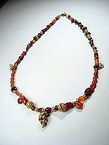 Ancient Museum Quality Sumerian Jewelry Beads Necklace
