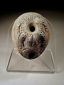 Rare, Roman-egyptian Frog Pottery Oil Lamp, 200 AD