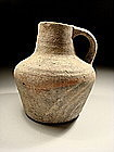 Ancient Byzantine Painted Pottery Wine Pitcher, 600 AD