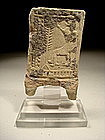 Old Babylonian Clay Plaque With A Seated Ruler, 1800 BC