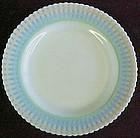 """Macbeth-Evans Banded Petalware 9"""" Dinner Plate, Monax"""
