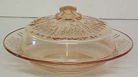 Federal Glass Sharon Covered Butter, Pink