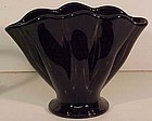 "Fenton Black 6"" Fan Vase"