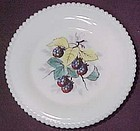 "Westmoreland Fruits Beaded Edge 6"" Plate, Black Berry"