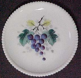 "Westmoreland Fruits Beaded Edge, Grape 7"" Plate"