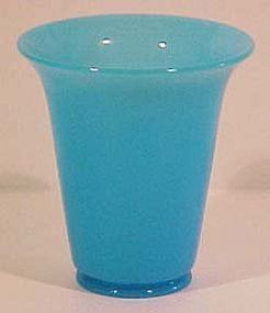 Fenton Peking Blue Pot Vase 6.25""