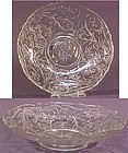 "McKee Rock Crystal Flower 12"" Bowl"