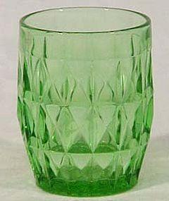 """Jeannette Windsor Diamond Green 3.75"""" Tumbler"""
