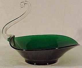 """Viking Green Swan 11.5"""" Fruit Bowl"""