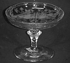 "Tiffin Oneida Etched 4"" Compote"