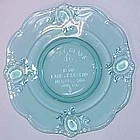 Heisey by Imperial Commemorative Rococo Plate 1972