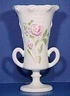 Westmoreland Roses & Lattice Hand-painted Vase
