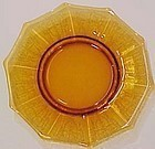 "Cambridge Amber Cleo Etched 8"" Plate"