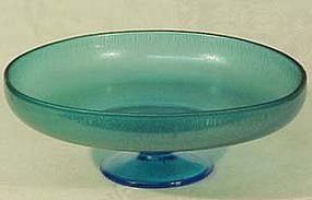 "Northwood Blue Stretchglass 8"" Compote"