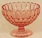 "Fenton Thumbprint Colonial Pink 7"" Bowl"