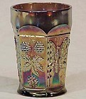 Fenton Carnival Butterfly and Berry 8 oz Tumbler