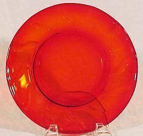 """Fostoria Jamestown Red 8"""" Lunch Plate"""