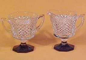 Westmoreland English Hobnail Black-Footed Creamer/Sugar
