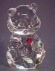 Fenton Crystal Bear with Ruby Heart