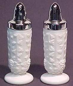 Westmoreland Paneled Grape Milkglass Shakers