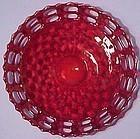 "Fenton Red Basketweave 7.5"" Plate"