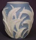 "Phoenix Blue Fern 7"" Vase"