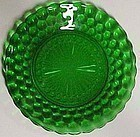 "Hocking Green Bubble 9"" Plate"