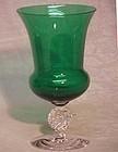 Morgantown Golfball Green Urn Vase