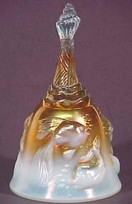 Fenton Atlantis Bell, Aqua Amber Carnival