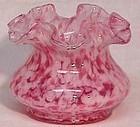 "Fenton Vasa Murrhina Rose Mist 4"" Vase"