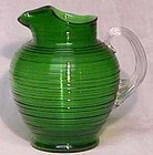 Imperial Reeded Green Pitcher