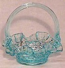 Fenton Light Blue Hobnail Mini Basket