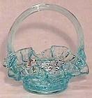 Fenton Light Blue Hobnail Mini Basket
