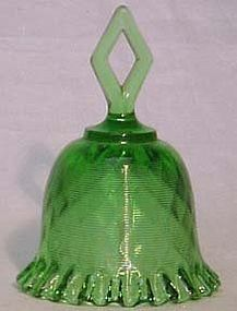 Fenton Green Threaded Bell Diamond Handle