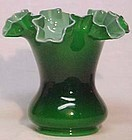 "Fenton Cased Ivy Green 6.5"" Vase"