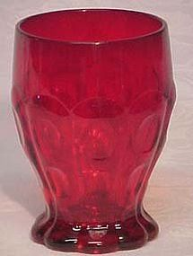 Fenton Red Tumblers from 1937