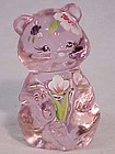 Fenton Pink Hand-painted Miniature Bear