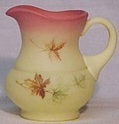 Fenton Burmese Maple Leaf Pitcher / Syrup