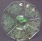 Cambridge Green Vaseline Handled Tort (Keyhole), Etch #739