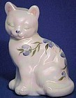 Fenton Hand-painted Pearlized Milk Glass Cat
